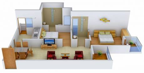 990 sqft, 2 bhk Apartment in Logix Blossom County Sector 137, Noida at Rs. 42.0000 Lacs