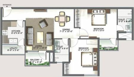 1183 sqft, 2 bhk Apartment in 3C Lotus Boulevard Sector 100, Noida at Rs. 66.2480 Lacs
