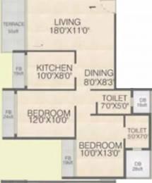 1300 sqft, 2 bhk Apartment in Juhi Greens Seawoods, Mumbai at Rs. 1.7200 Cr