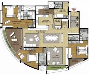 3520 sqft, 3 bhk Apartment in Brigade Caladium Sahakar Nagar, Bangalore at Rs. 3.6000 Cr