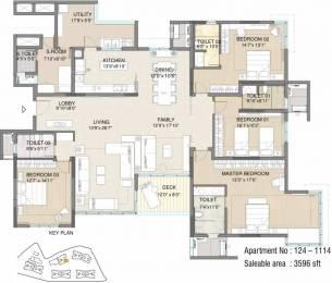 3596 sqft, 4 bhk Apartment in Embassy Pristine Bellandur, Bangalore at Rs. 65000