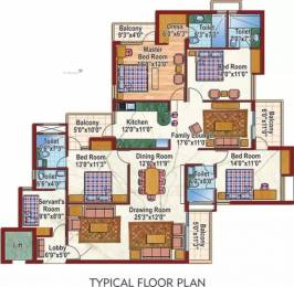 2525 sqft, 4 bhk Apartment in Purvanchal Silver City 2 PI, Greater Noida at Rs. 1.5500 Cr