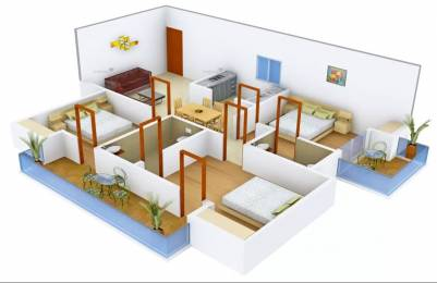1350 sqft, 3 bhk Apartment in Avj Heightss Zeta, Greater Noida at Rs. 45.0000 Lacs