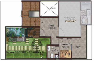 1825 sqft, 3 bhk Villa in Amrapali Leisure Valley Techzone 4, Greater Noida at Rs. 85.0000 Lacs