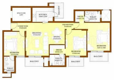 1800 sqft, 3 bhk Apartment in ATS Dolce Villa Zeta, Greater Noida at Rs. 80.0000 Lacs
