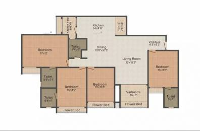 2300 sqft, 4 bhk Apartment in Goyal Orchid Harmony Shela, Ahmedabad at Rs. 35000
