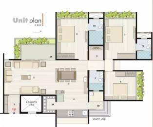 2214 sqft, 3 bhk Apartment in Binori Solitaire Bopal, Ahmedabad at Rs. 88.0000 Lacs