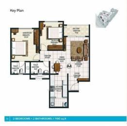 1170 sqft, 2 bhk Apartment in Brigade Buena Vista Budigere, Bangalore at Rs. 62.0000 Lacs
