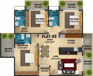 1866 sqft, 3 bhk Apartment in DS Skyscape Anagalapura Near Hennur Main Road, Bangalore at Rs. 61.5780 Lacs