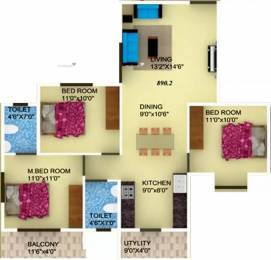 1309 sqft, 3 bhk Apartment in DS Sky Classic Electronic City Phase 1, Bangalore at Rs. 37.9610 Lacs