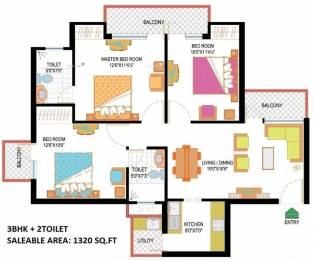 1320 sqft, 3 bhk Apartment in Nimbus Hyde Park Sector 78, Noida at Rs. 65.0000 Lacs