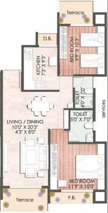 1145 sqft, 2 bhk Apartment in Keystone Vista Kharghar, Mumbai at Rs. 85.0000 Lacs