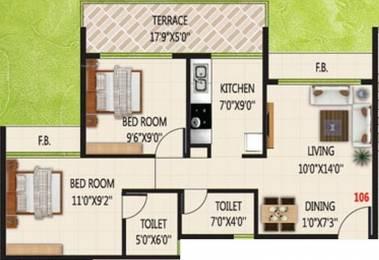 970 sqft, 2 bhk Apartment in KK Emerald Ulwe, Mumbai at Rs. 61.0000 Lacs