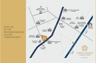 1124 sqft, 3 bhk Apartment in Amardeep Anutham Mulund East, Mumbai at Rs. 2.1600 Cr