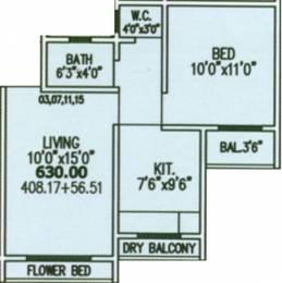 630 sqft, 1 bhk Apartment in Five Gokul Nagar Boisar, Mumbai at Rs. 98.0000 Lacs