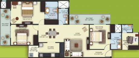 1810 sqft, 3 bhk Apartment in Mahagun My Woods Sector 16C Noida Extension, Greater Noida at Rs. 72.0000 Lacs