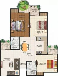 1395 sqft, 3 bhk Apartment in Ajnara Grand Heritage Sector 74, Noida at Rs. 75.0000 Lacs