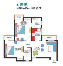 1000 sqft, 2 bhk Apartment in Nimbus Express Park View CHI 5, Greater Noida at Rs. 6500