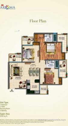 1600 sqft, 3 bhk Apartment in Omaxe Grand Sector 93B, Noida at Rs. 92.0000 Lacs