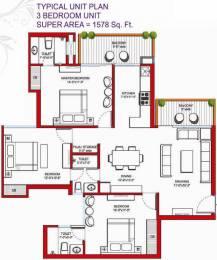 1578 sqft, 3 bhk Apartment in Tulip Violet Sector 69, Gurgaon at Rs. 1.0300 Cr