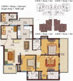1998 sqft, 3 bhk Apartment in Spaze Privvy The Address Sector 93, Gurgaon at Rs. 76.5100 Lacs