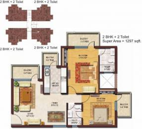 1297 sqft, 2 bhk Apartment in Spaze Privvy The Address Sector 93, Gurgaon at Rs. 51.5100 Lacs