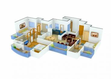 1730 sqft, 3 bhk Apartment in Sunworld Vanalika Sector 107, Noida at Rs. 1.1000 Cr
