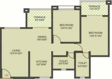 1085 sqft, 2 bhk Apartment in Kolte Patil Margosa Heights NIBM Annex Mohammadwadi, Pune at Rs. 16000