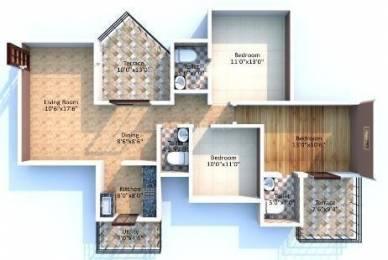 1400 sqft, 3 bhk Apartment in Magnus Manjri Green Woods Manjari, Pune at Rs. 17000
