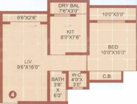 675 sqft, 1 bhk Apartment in RMP Vandana Heights Mira Road East, Mumbai at Rs. 50.0000 Lacs