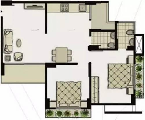1143 sqft, 2 bhk Apartment in Shivam Priory Makarba, Ahmedabad at Rs. 15500