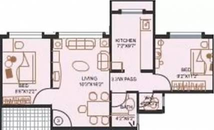 925 sqft, 2 bhk Apartment in Evershine City Vasai, Mumbai at Rs. 12000