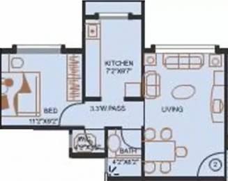 500 sqft, 1 bhk Apartment in Evershine City Vasai, Mumbai at Rs. 7000
