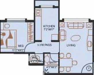 500 sqft, 1 bhk Apartment in Evershine City Vasai, Mumbai at Rs. 5000