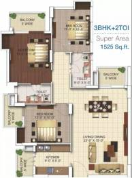 1525 sqft, 3 bhk Apartment in MGH Mulberry County Sector 70, Faridabad at Rs. 55.0000 Lacs
