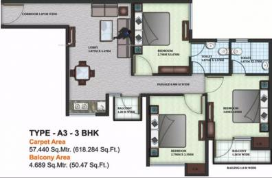 803 sqft, 3 bhk Apartment in Auric City Homes Sector 82, Faridabad at Rs. 26.0000 Lacs