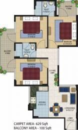 730 sqft, 3 bhk Apartment in Agrasain Aagman Sector 70, Faridabad at Rs. 26.0000 Lacs
