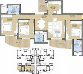 1750 sqft, 3 bhk Apartment in ATS Tourmaline Sector 109, Gurgaon at Rs. 1.3800 Cr