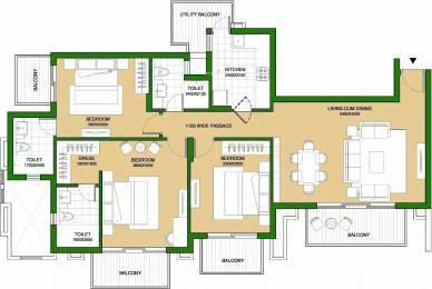1750 sqft, 3 bhk Apartment in ATS Marigold Sector 89A, Gurgaon at Rs. 1.0000 Cr