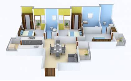 1350 sqft, 3 bhk Apartment in Imperia Mirage Homes Sector 25 Yamuna Express Way, Noida at Rs. 60.0000 Lacs