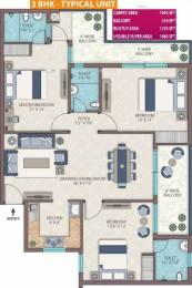 1660 sqft, 3 bhk Apartment in Emerald Heights Sector 88, Faridabad at Rs. 62.9000 Lacs
