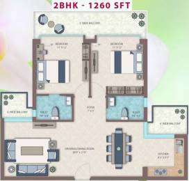 1260 sqft, 2 bhk Apartment in Emerald Heights Sector 88, Faridabad at Rs. 43.0000 Lacs