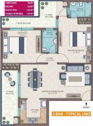 1325 sqft, 2 bhk Apartment in Emerald Heights Sector 88, Faridabad at Rs. 46.9000 Lacs