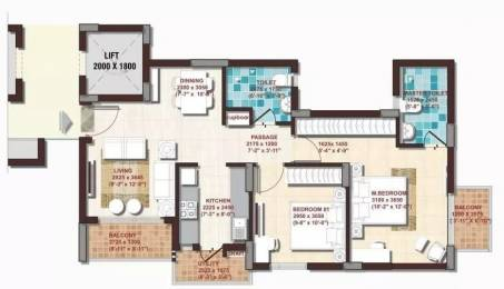 918 sqft, 2 bhk Apartment in DLF Woodland Heights at My Town Jigani, Bangalore at Rs. 48.0000 Lacs