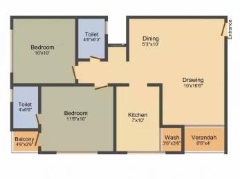 1179 sqft, 2 bhk Apartment in Himalaya Pearl Motera, Ahmedabad at Rs. 55.0000 Lacs