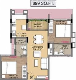 899 sqft, 2 bhk Apartment in Builder Project Perambur, Chennai at Rs. 51.2340 Lacs