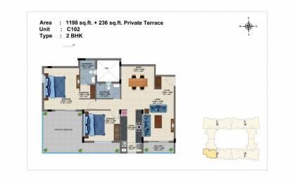 1198 sqft, 2 bhk Apartment in Builder luxury 2BHK apartment in perungudi Perungudi, Chennai at Rs. 73.6770 Lacs