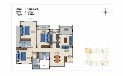 1623 sqft, 3 bhk Apartment in Builder luxury 3BHK apartment in perungudi Perungudi, Chennai at Rs. 99.8145 Lacs