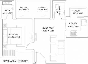 595 sqft, 1 bhk Apartment in Supertech Azalia Sector 68, Gurgaon at Rs. 32.0110 Lacs