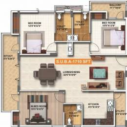 1710 sqft, 3 bhk Apartment in Amrutha Value Whitefield Hope Farm Junction, Bangalore at Rs. 22000